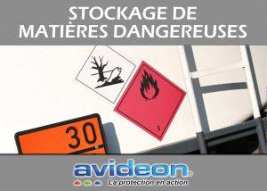 protéger le stockage de matières dangereuses